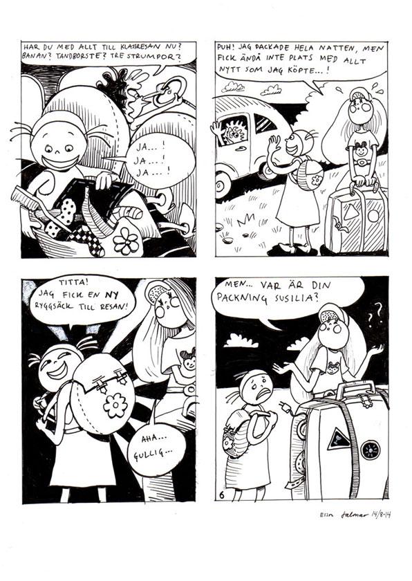 Comics Susilia och Sara ©Jalmar Staaf, Elin Staaf
