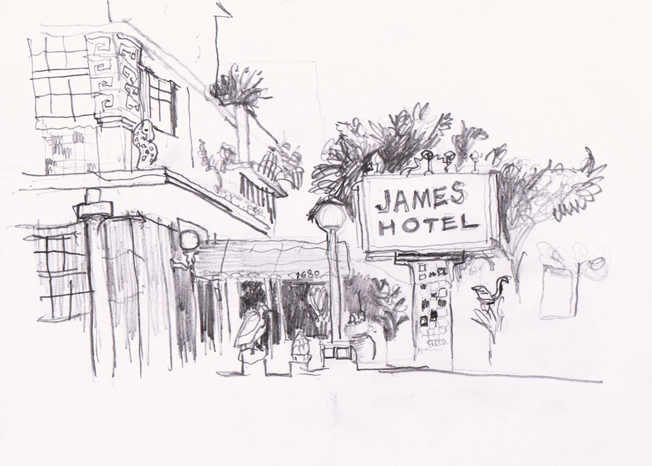 James Hotel, Miami Drawing ©Jalmar Staaf