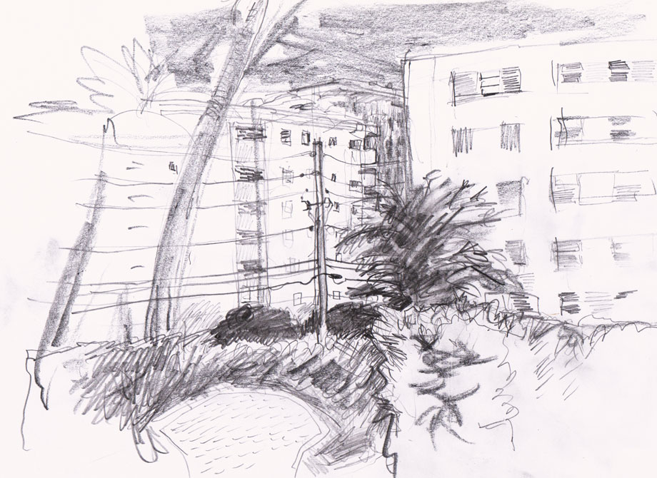 Lincoln Rd, Miami Drawing ©Jalmar Staaf