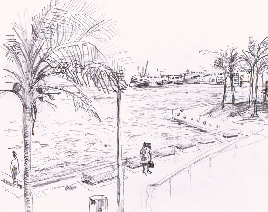 Museum Park Baywalk, Miami Drawing @Jalmar Staaf
