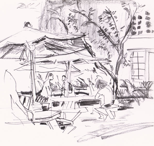 Campton Yard, Miami Drawing ©Jalmar Staaf