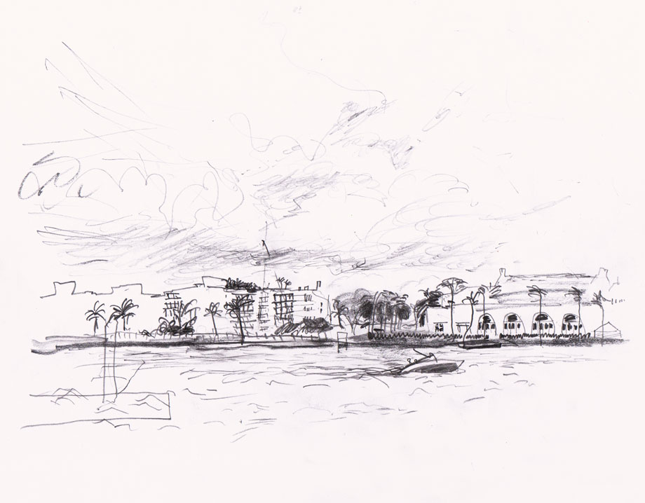 Palm Beach, Miami Drawing ©Jalmar Staaf