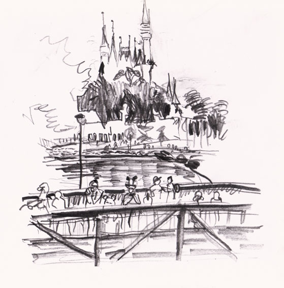 Magic Kingdom, Orlando Drawing ©Jalmar Staaf