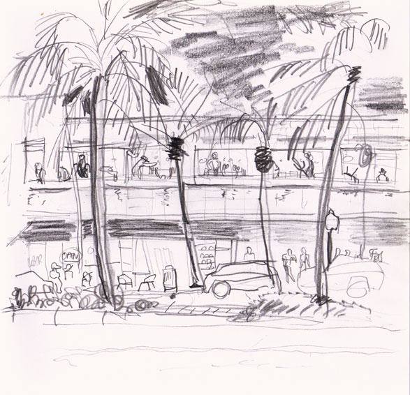 Crunch Gym, Miami Drawing ©Jalmar Staaf