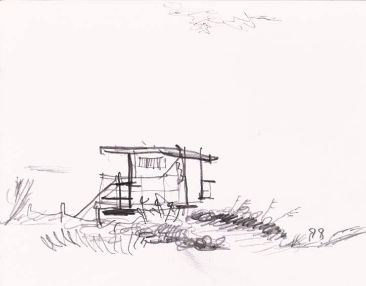 North Shore, Miami Drawing ©Jalmar Staaf