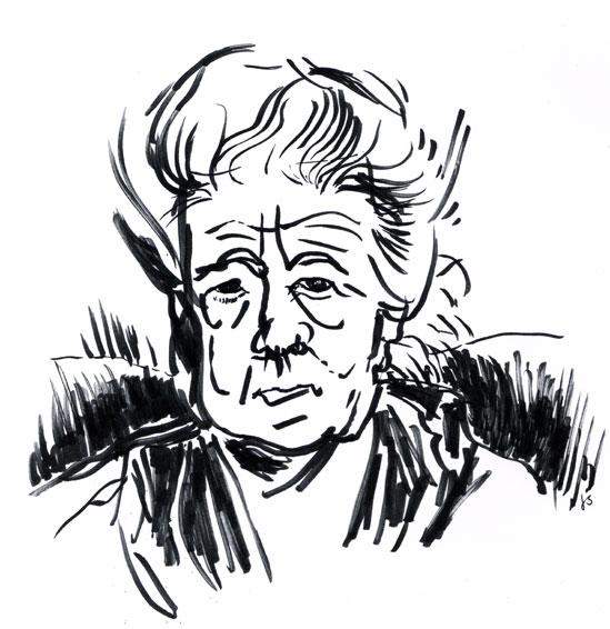 Selma Lagerlöf Drawing Portrait ©Jalmar Staaf