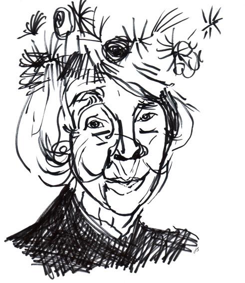 Tove Jansson Drawing Portrait ©Jalmar Staaf