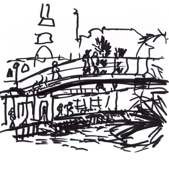 Live sketch Stockholm, Klara sjö ©Jalmar Staaf