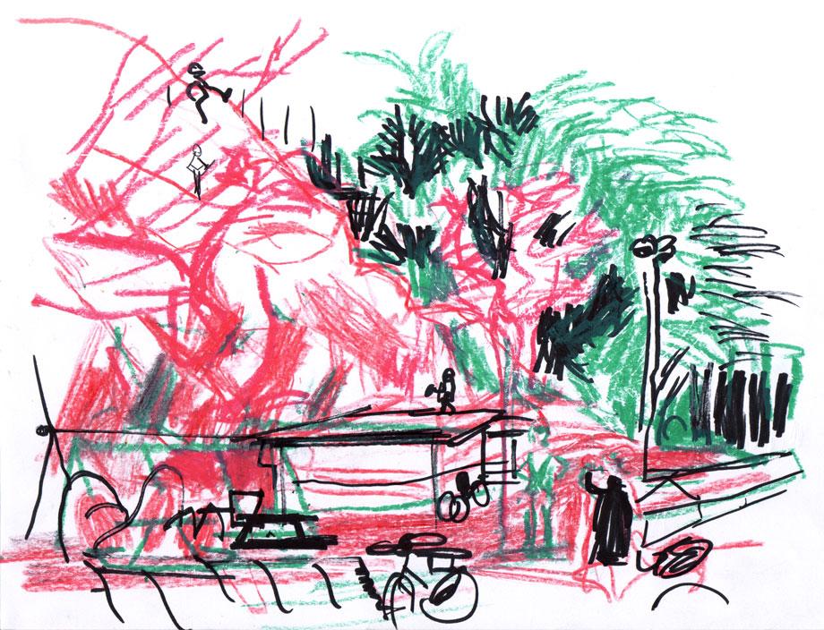 Live sketch Stockholm, Södermalm ©Jalmar Staaf