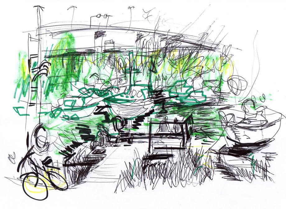 Live sketch Stockholm, Skanstull ©Jalmar Staaf