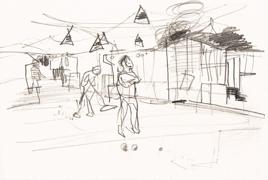 Live sketch Stockholm, Boule Bar Tanto ©Jalmar Staaf