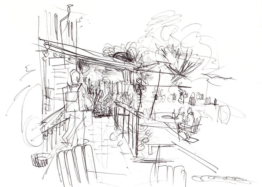 Live sketch Stockholm, Hotel Skeppsholmen ©Jalmar Staaf