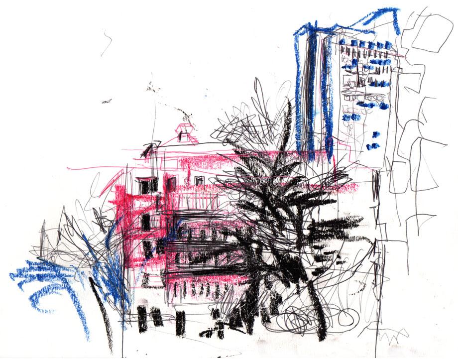 Live sketch Stockholm, Södermalm, Skrapan ©Jalmar Staaf