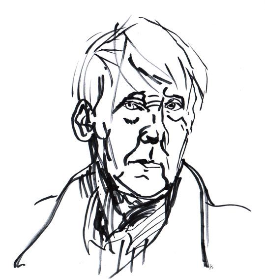 Slas Stig Claesson Drawing Portrait ©Jalmar Staaf