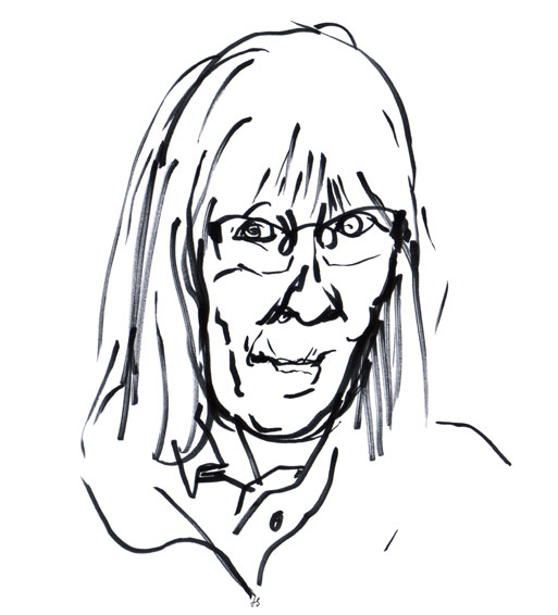Anna-Clara Tidholm Drawing Portrait ©Jalmar Staaf