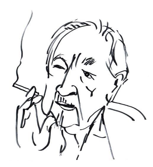 Lennart Hellsing Drawing Portrait ©Jalmar Staaf