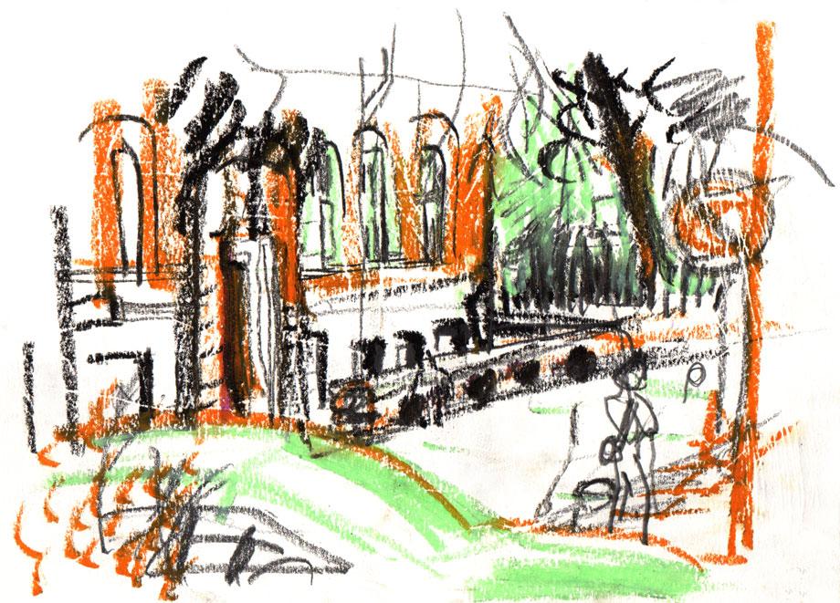 Live Sketch Stockholm, Södermalm, Mosebacke ©Jalmar Staaf