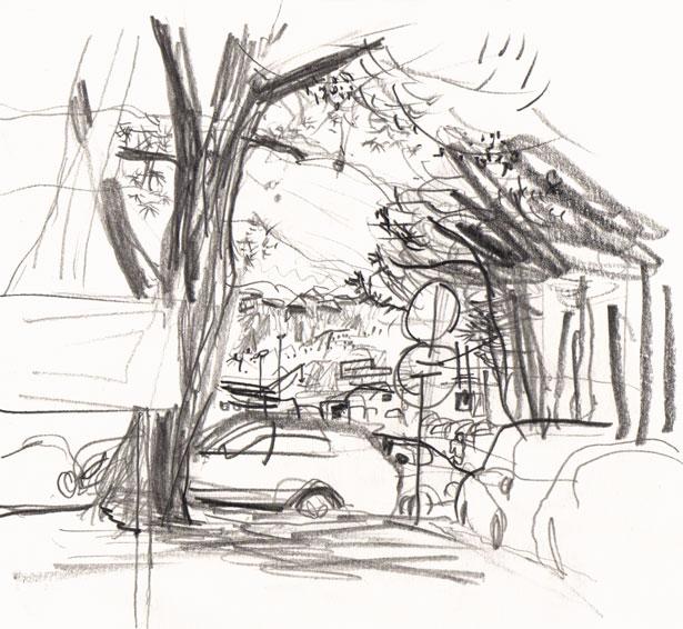 Live sketch Croatia, Stobreč - Stobrec Bus Station ©Jalmar Staaf