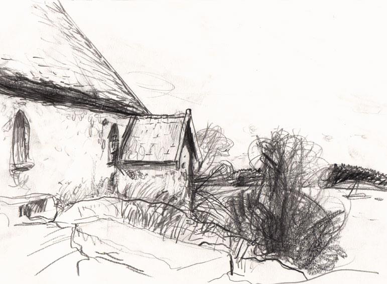 Live sketch Sankt Anna, Capella Ecumenica ©Jalmar Staaf