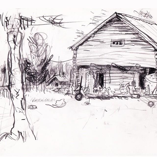 Live sketch Ångermanland, Näsåker ©Jalmar Staaf