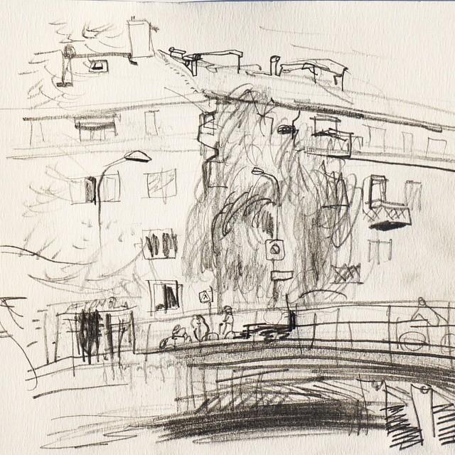 Live sketch Stockholm, Reimersholme ©Jalmar Staaf