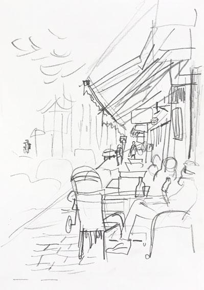 Live sketch Stockholm, Ringvägen ©Jalmar Staaf
