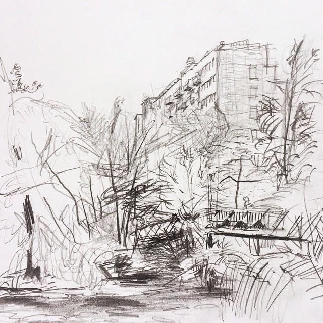 Live sketch Sickla Stockholm/Nacka ©Jalmar Staaf