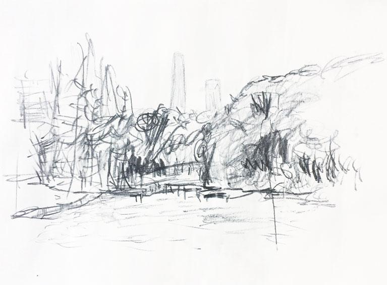 Live sketch Shanghai, Century Park ©Jalmar Staaf
