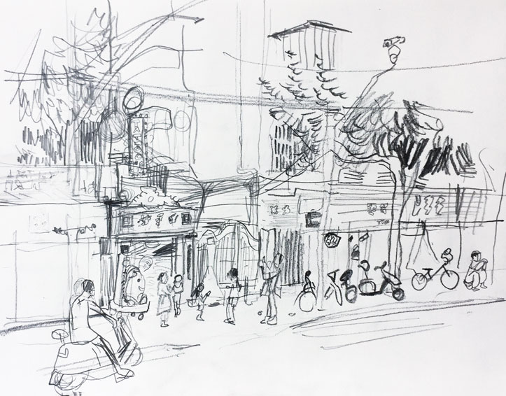 Live sketch Shanghai ©Jalmar Staaf