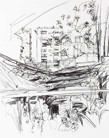 Live sketch Red house, Taipei ©Jalmar Staaf