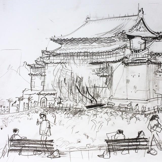 Live sketch Taipei Botanical Garden ©Jalmar Staaf