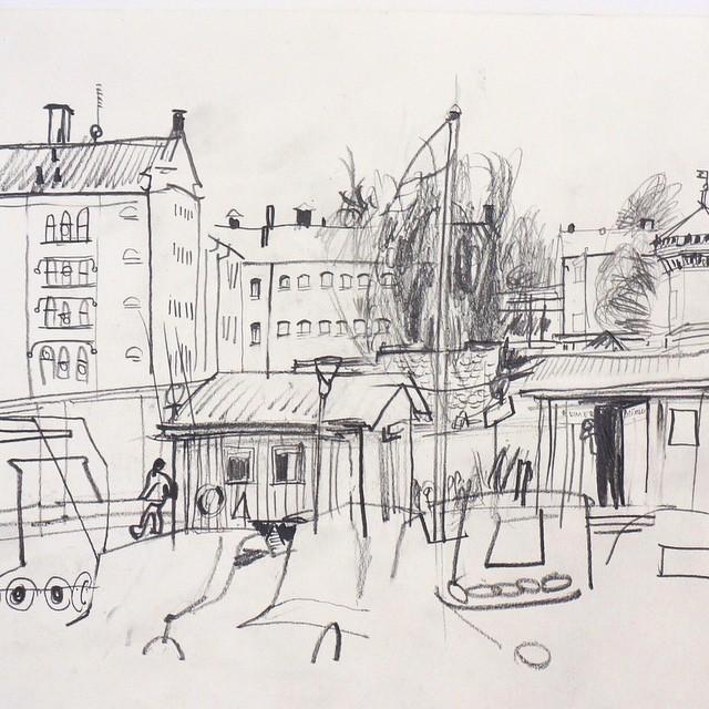 Live sketch Stockholm, Långholmen ©Jalmar Staaf